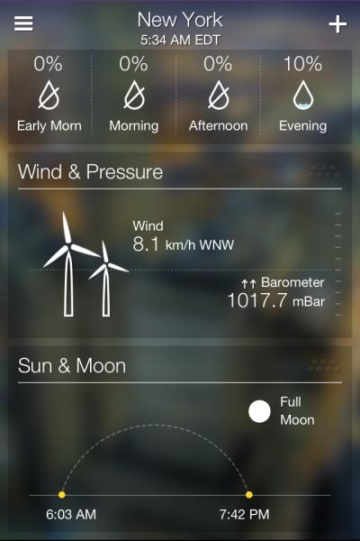 Yahoo! Weather iPhone