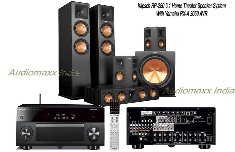 Klipsch rp 280 5 1 home theater cinema speaker pack with for Home theater yamaha