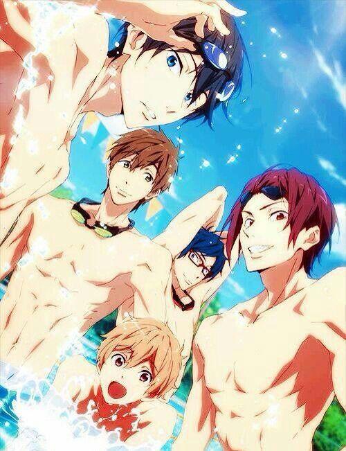 Free Iwatobi Swim Club Guys Who Apparel Don T Like Shirts Or Clothes Really Free Anime Anime Free Iwatobi