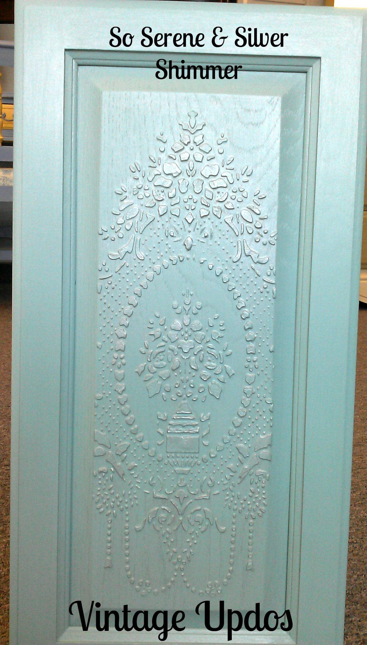 Stenciled Cabinet With Our Circling Allover Stencils On The Doors And Small Polka Party On The Drawers Furniture And Stenci Stencil Furniture Furniture Design