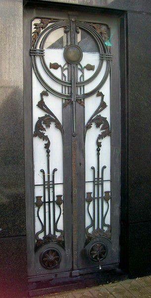 Art deco door in Buenos Aires