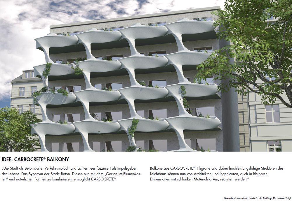 carbocrete balcony, Designerteam Stefan Paulisch, Uta Kleffling und Pamela Voigt, Leipzig, Germany