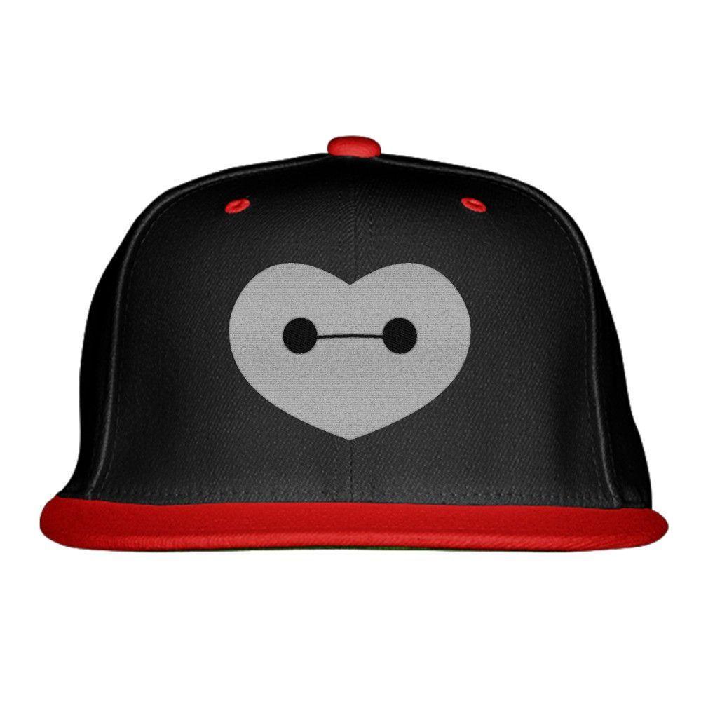 Big Hero 6 - Baymax Shaped Heart Embroidered Snapback Hat  3aad50c4ed24