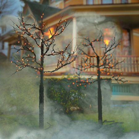 5\u0027 Lighted Spooky Tree Halloween Decor Halloween Pinterest - halloween lighted decorations