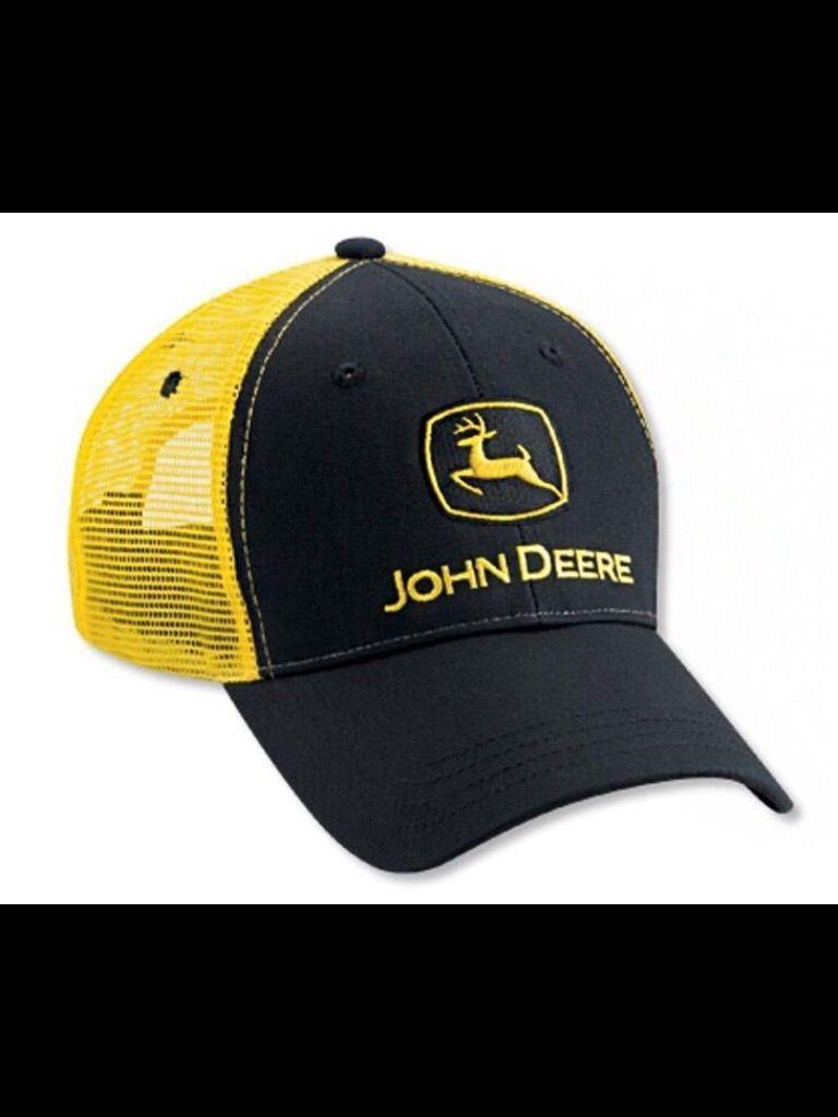 Gorra John Deere Negra con Amarillo  bdacb78a359