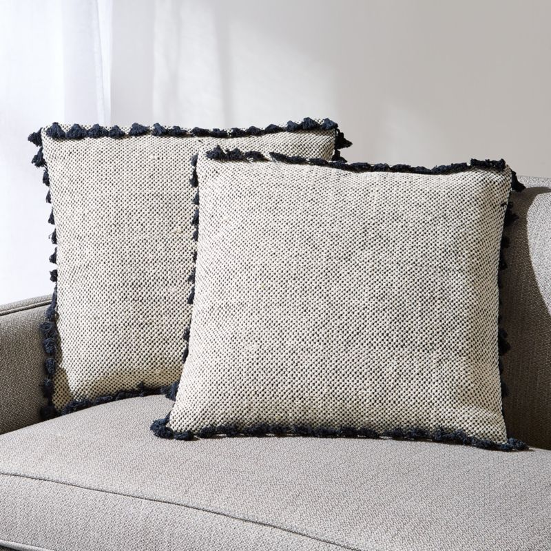Ari Tassel Pillows 20 Set Of 2 Crate And Barrel Tassel Pillow Pillows Throw Pillows Bed