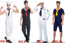 Adult Mens Sailor Costume Size M  sc 1 st  Pinterest & Adult Mens French Navy Sailor Uniform Outfit HALLOWEEN Costume Fancy ...
