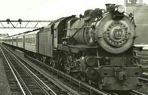 LIRR G-5 class (4-6-0 ) steam engine #35 and a 110P82A