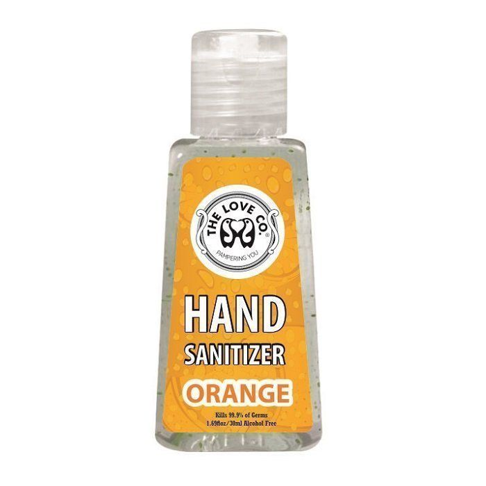 The Love Co Orange Hand Sanitizer Kills 99 9 Of Germs Instantly