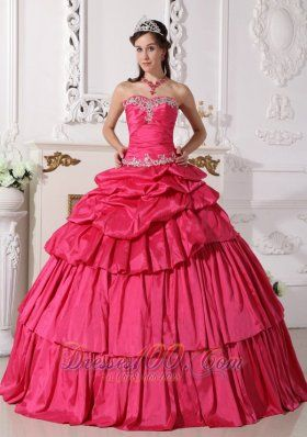 4e580b7d3a6 Detachable Hot Pink Quinceanera Dress Sweetheart Taffeta Beading and Ruch  Ball Gown Plus Size