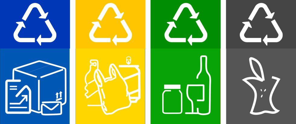 Free Recycling Printable Labels For Bins Graphic Pinterest