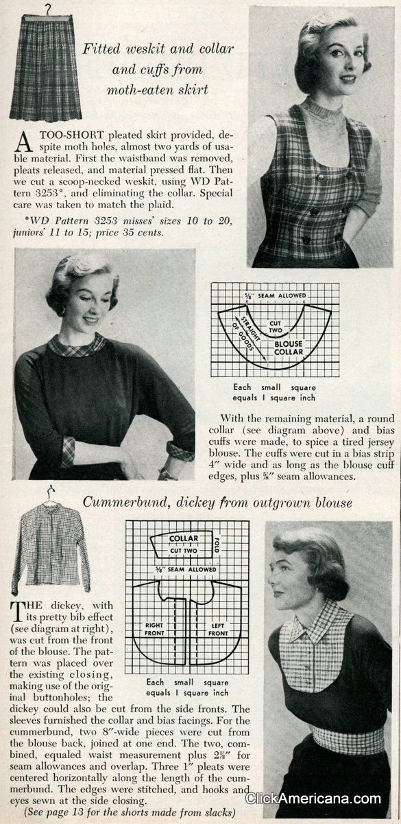New accessories from old plaids (1950
