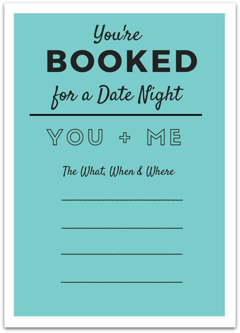 Printable Date Night Invite No Excuses Date Night