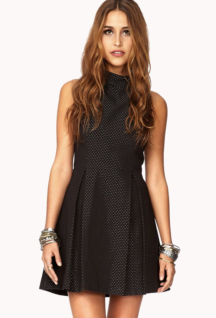 Glam Dot A-Line Dress