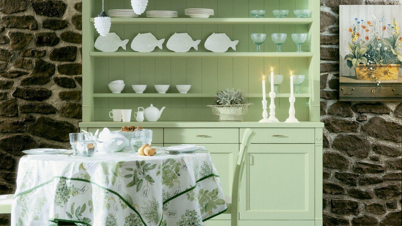 Credenza Con Piattaia Shabby : Cucina shabby verde panca contenitore marrone riflessi verdi con