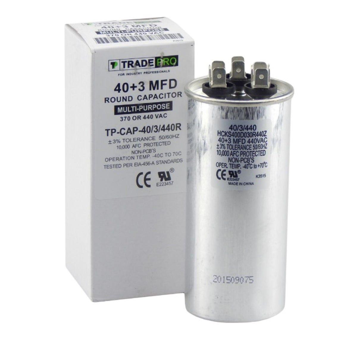 40 3 Capacitor Hvac 40 3 440v Motor Fan Capacitor Air Filter Lights Capacitors