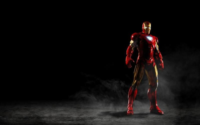 Free HD Wallpapers for your computer: Red Iron Man on black background