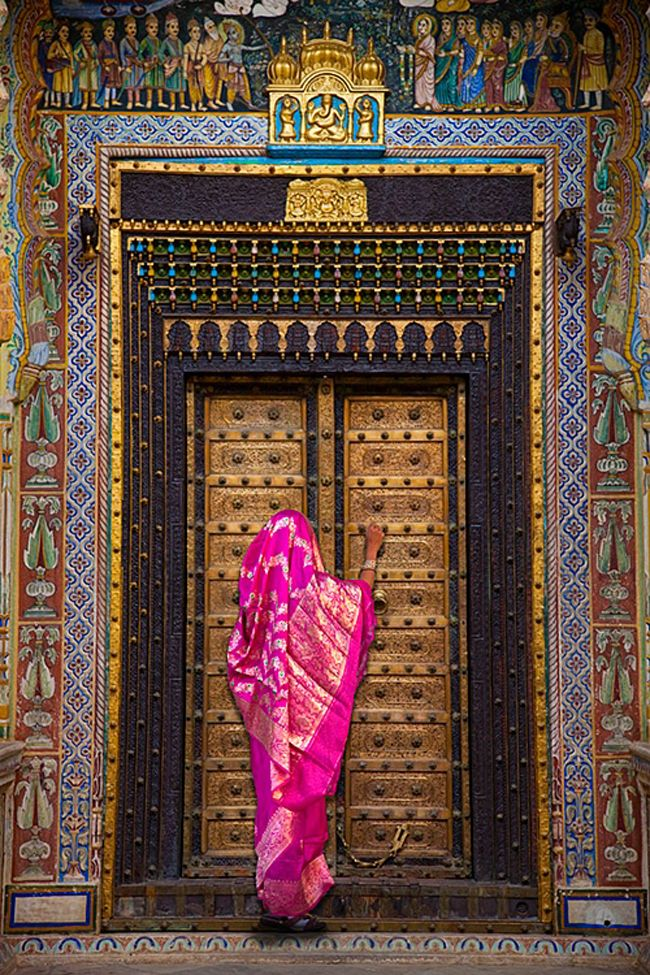 Indian door, by Jim Zuckerman http://VIPsAccess.com/luxury-hotels-new-york.html #eastern #door #photography #enter #knock #pink #ethnic