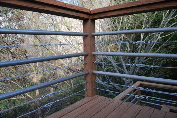 diy tension cable railing cable railing decking and front porches