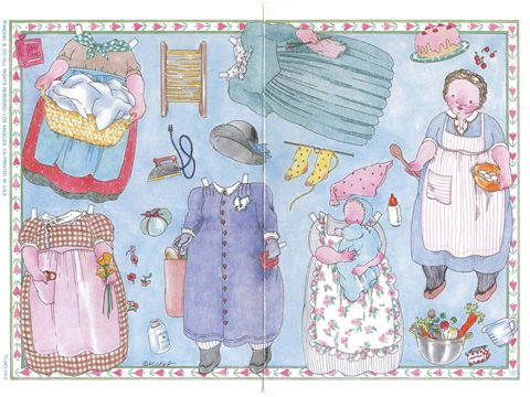 Paper Doll Greeting Cards by Michel & Co.  free