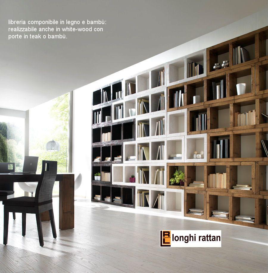 libreria da soggiorno in bambù.jpg 900×918 pixel | Libreria | Pinterest