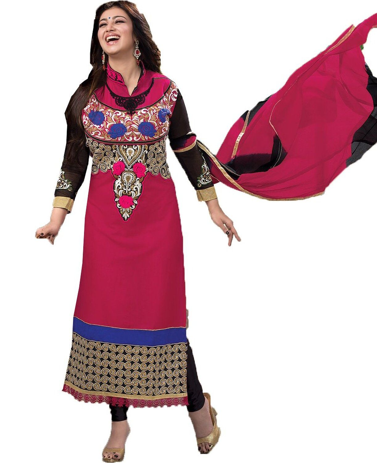 chakudee by red cotton drees material: Amazon.in: Clothing ...