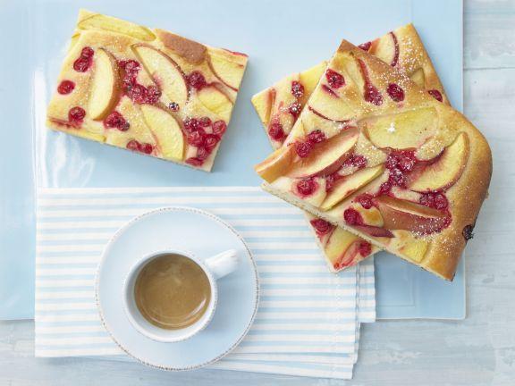 Nektarinen Johannisbeer Kuchen Rezept Leichte Kuchen Rezepte Lebensmittel Essen