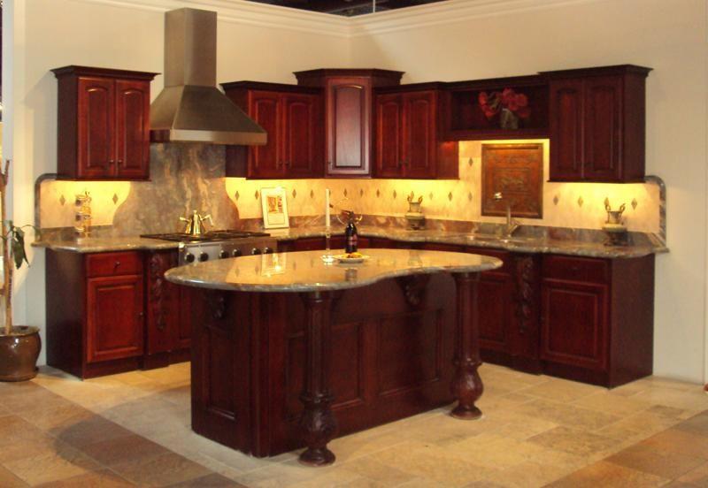 Dark cherry wood kitchen cabinets dark cherry wood for Cherry wood paint for kitchen cabinets