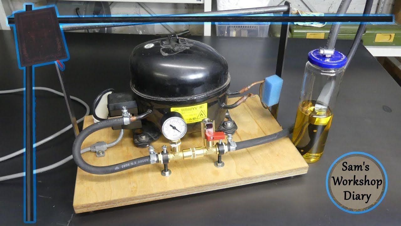 Vacuum Pump From Fridge Compressor Youtube Vacuum Pump Homemade Tools Air Conditioner Installation