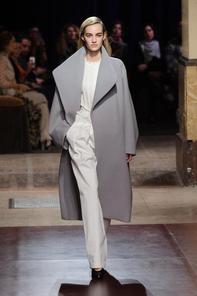 Hermès maxi grey coat.