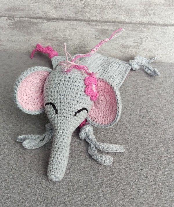 Häkelanleitung Schnuffeltuch Elefant Schmusetuch Häkeln Häkeln
