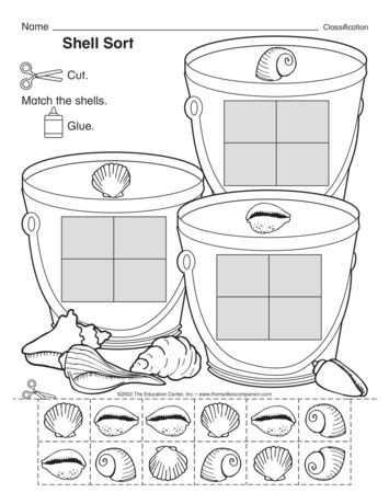 Shell Sort Lesson Plans The Mailbox Kindergarten Math