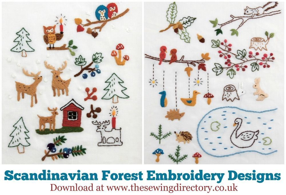 Download Free Scandinavian Forest Embroidery Designs Embroidery Scandinavian Embroidery Embroidery Craft Animal Embroidery Designs