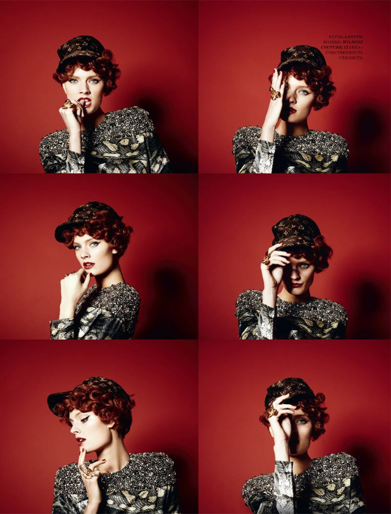 Constance Jablonski by Natalia Alaverdian for Harpers Bazaar Russia March 2012