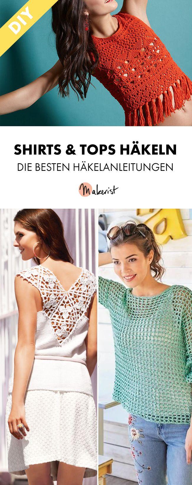 Shirts und Tops häkeln im Sommer für Festival und Strand ...