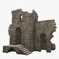 3d tower ruin