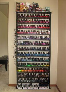 Large Nail Polish Storage Idea & Large Nail Polish Storage Idea | Nails | Pinterest | Storage ideas ...