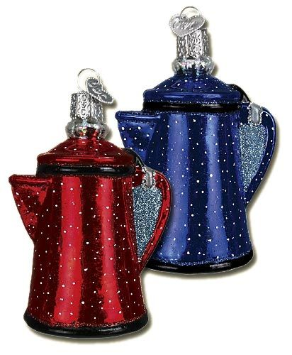 Campfire Coffee Pot Ornaments #coffeepots