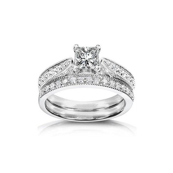 home wedding sets inexpensive antique diamond wedding ring set rings wedding ring sets cheap princess cut diamond wedding ring set 27 - Cheap Wedding Rings For Her