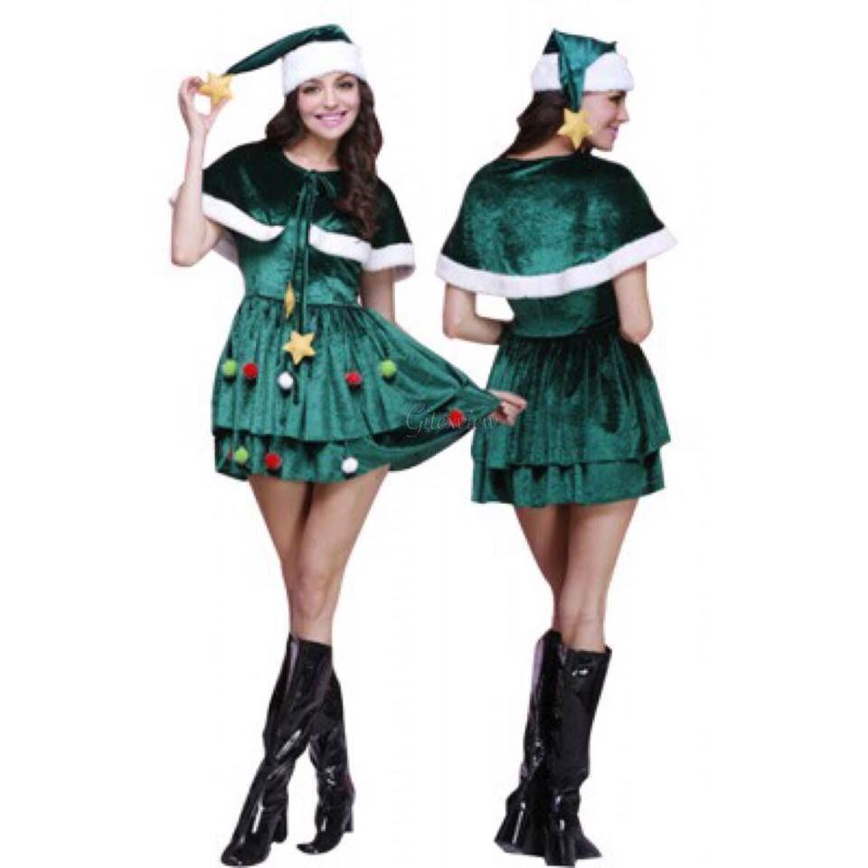 Deguisement Sapin De Noel Femme Pin on Christmas Costumes