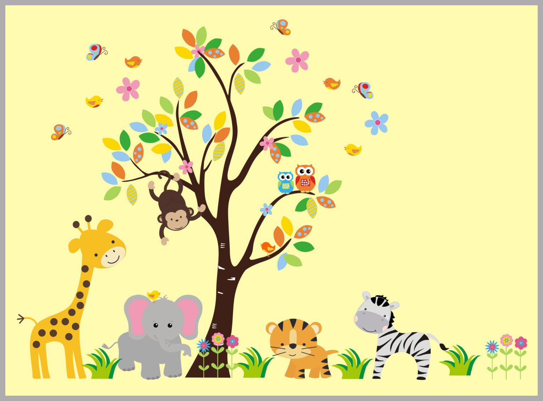 Zoo Animal Decals - Zoo Animal Mural - Zoo Themed Nursery - Zoo ...