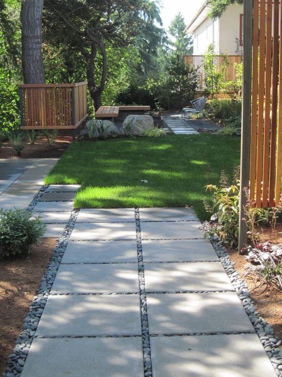 Gartenweg Anlegen 104 Gestaltungsideen Mit Spannungsvollen Effekten Landschaftsdesign Gartenweg Beton Trittsteine