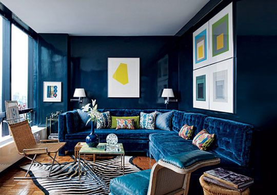 Paint Color Portfolio Navy Blue Living Rooms Itty Bitty