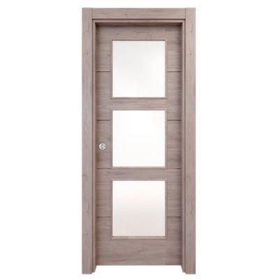 puerta de interior corredera berna gris de 62.5 cm · LEROY