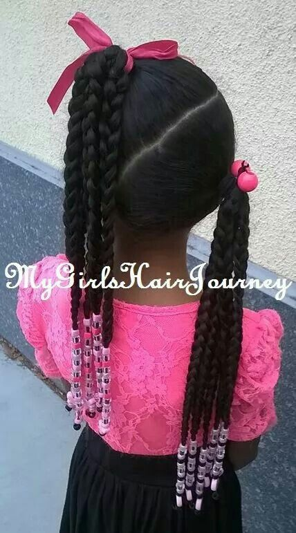 No Beads And Large Twists Instead Of Braids With Images Girls