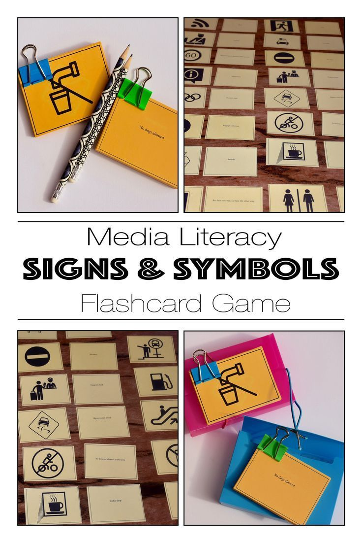 A Media Literacy Exercise Teaching Signs Symbols As A Media