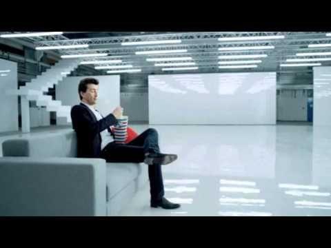 David Tennant in advertisement for Virgin Media - Popcorn  >>>  Haha! Love it!