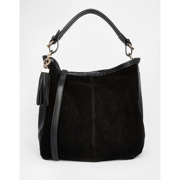 Oasis Suede Hobo Bag (255 SAR) ❤ liked on Polyvore featuring bags ... 6b00ac4bba885