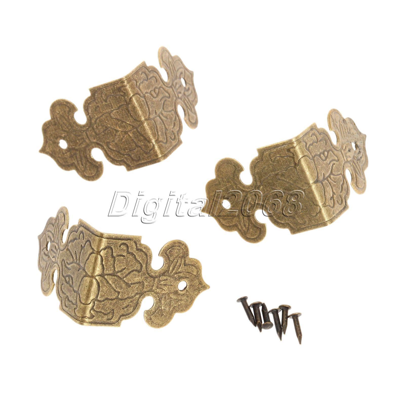 Hot Selling 12Pcs Iron Bronzegolden Decorative Jewelry Chest Wine Gift