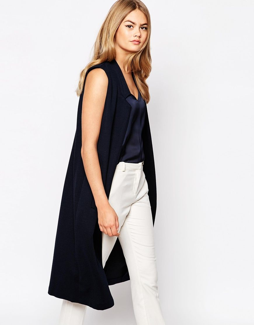 lange blouse zonder mouwen